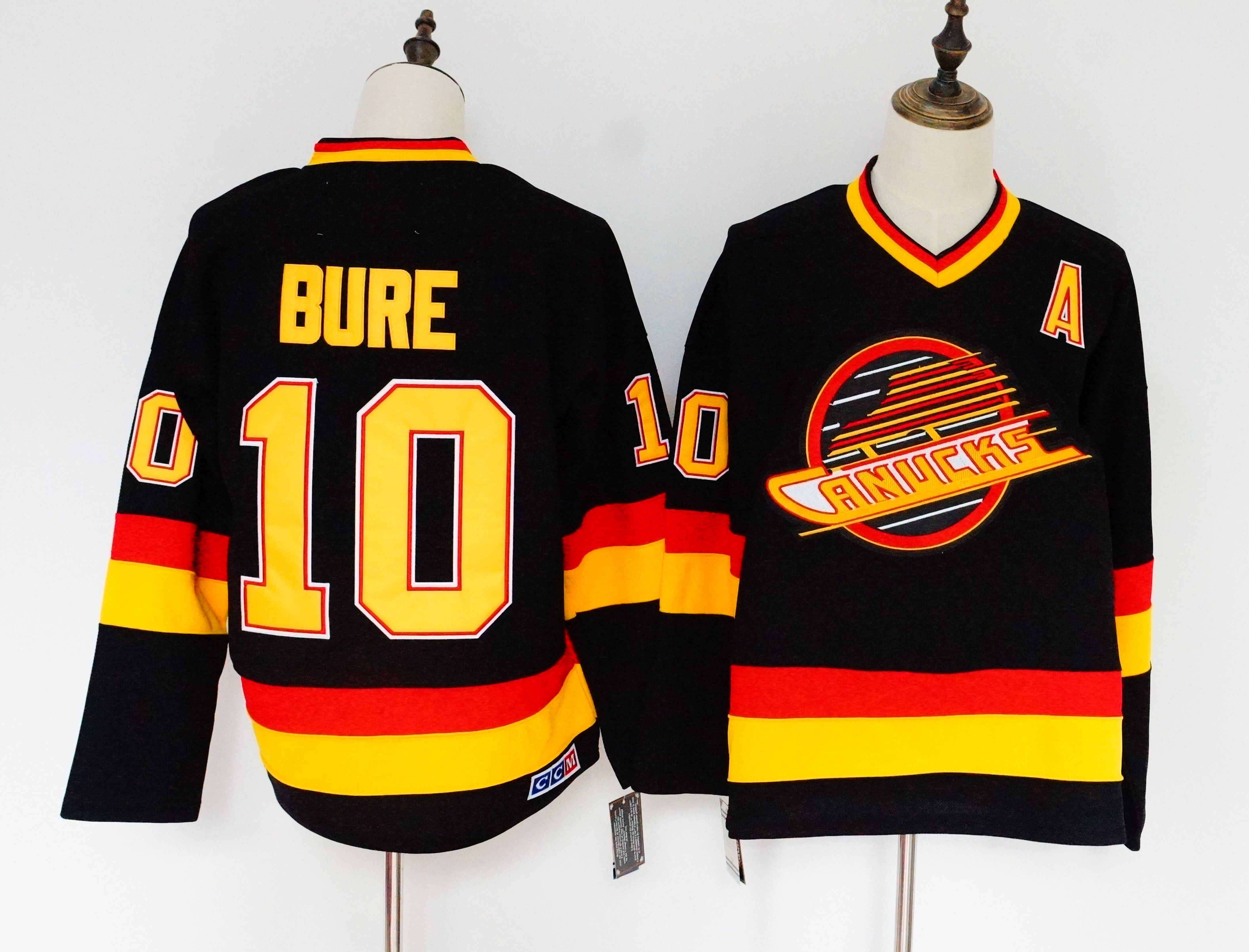Canucks 10 Pavel Bure Black CCM Jersey