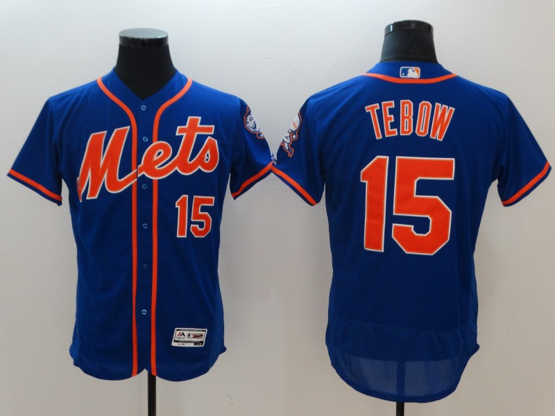 Mets 15 Tim Tebow Royal Flexbase Jersey