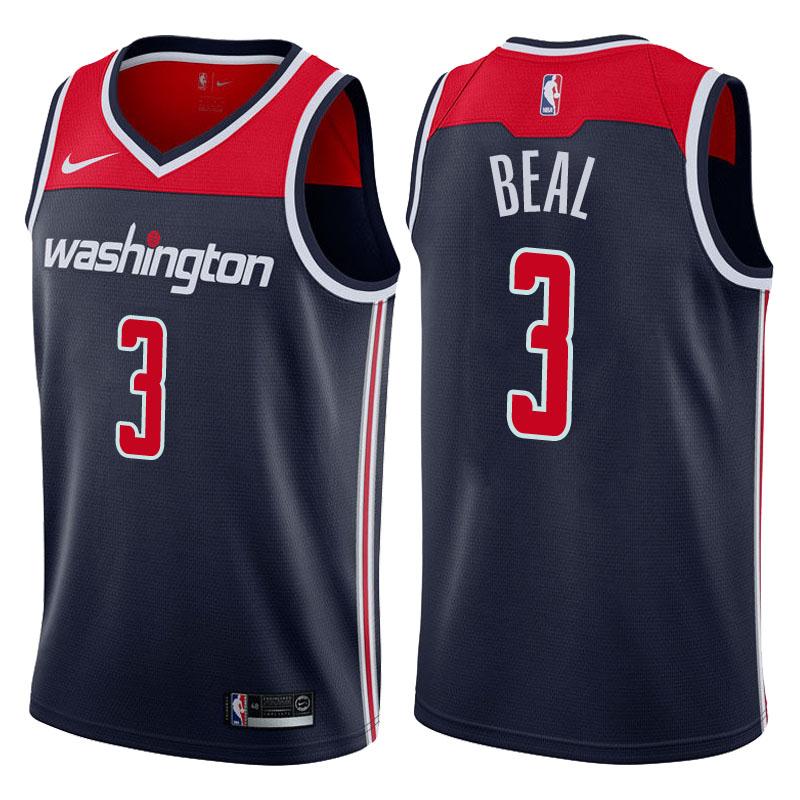 Wizard 3 Bradley Beal Navy Nike Swingman Jersey