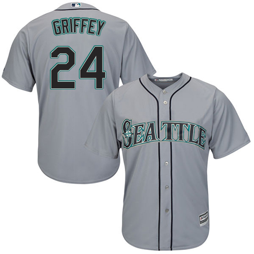 Mariners 24 Ken Griffey Jr. Gray Women Cool Base Jersey