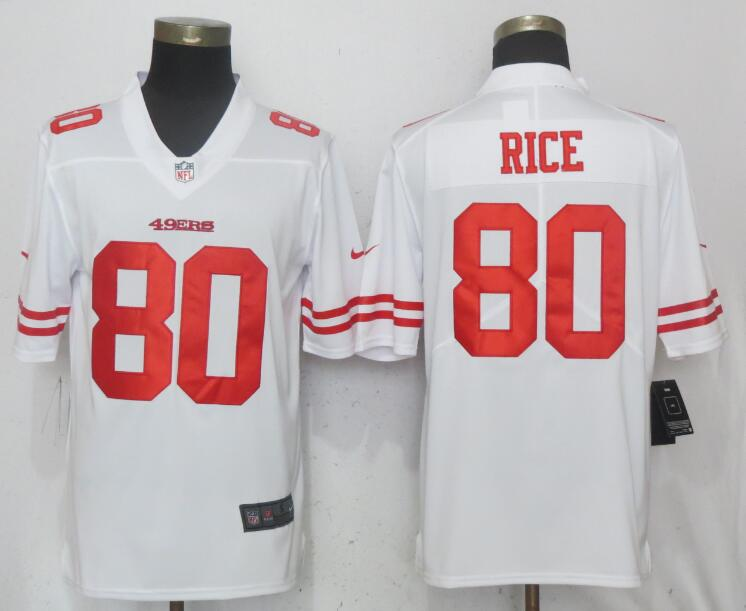 Nike 49ers 80 Jerry Rice White Vapor Untouchable Limited Jersey