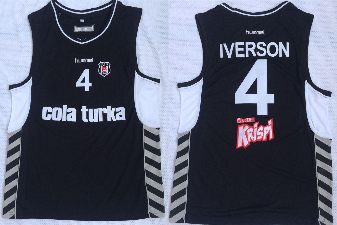 Besiktas 4 Allen Iverson Black Basketball Jersey