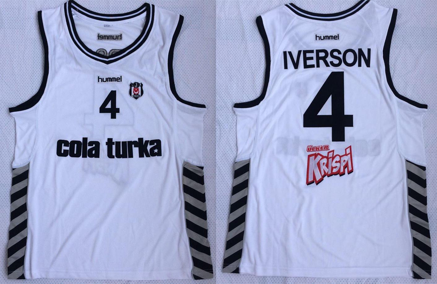 Besiktas 4 Allen Iverson White Basketball Jersey