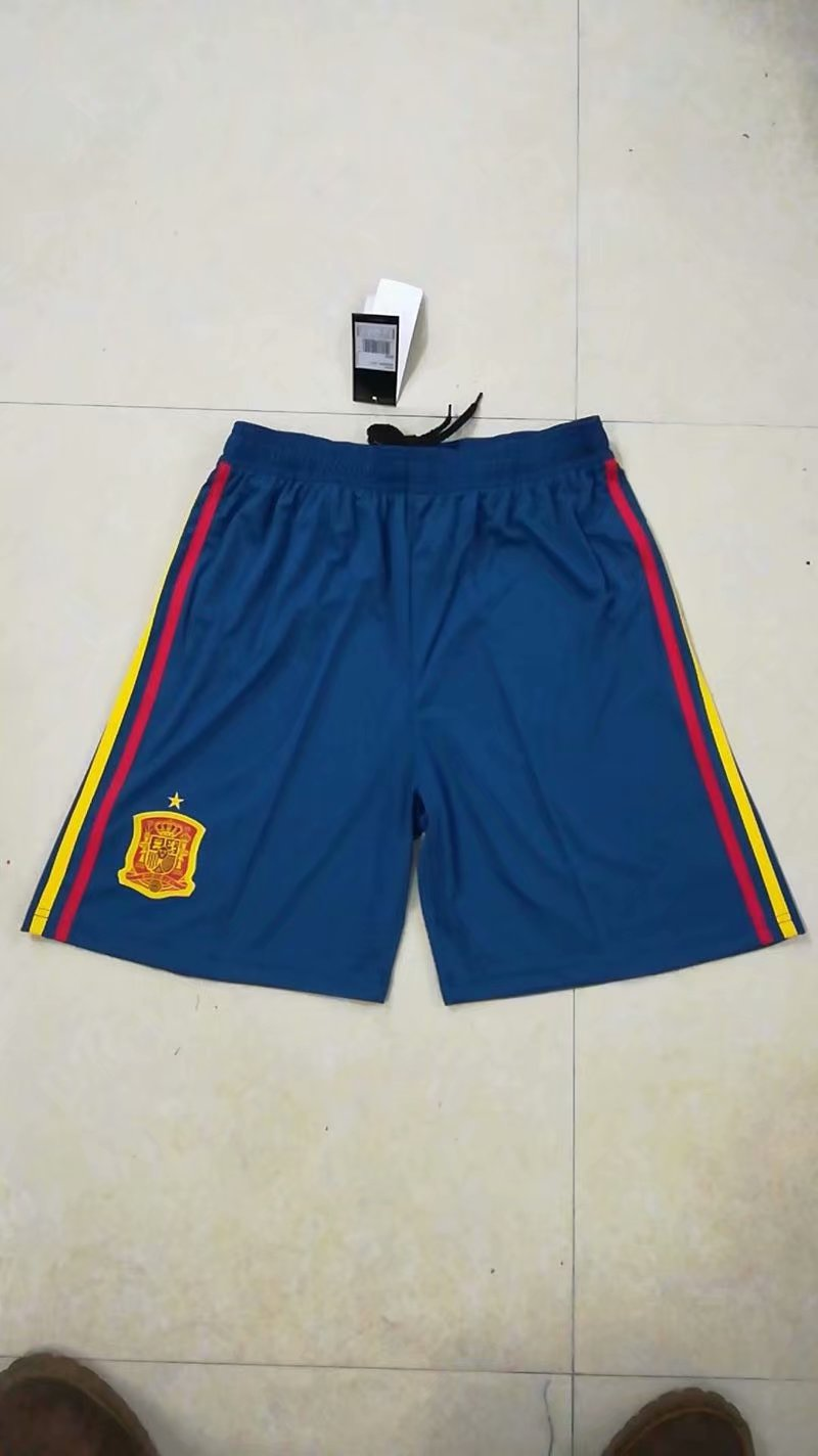 Spain Home 2018 FIFA World Cup Thailand Soccer Shorts