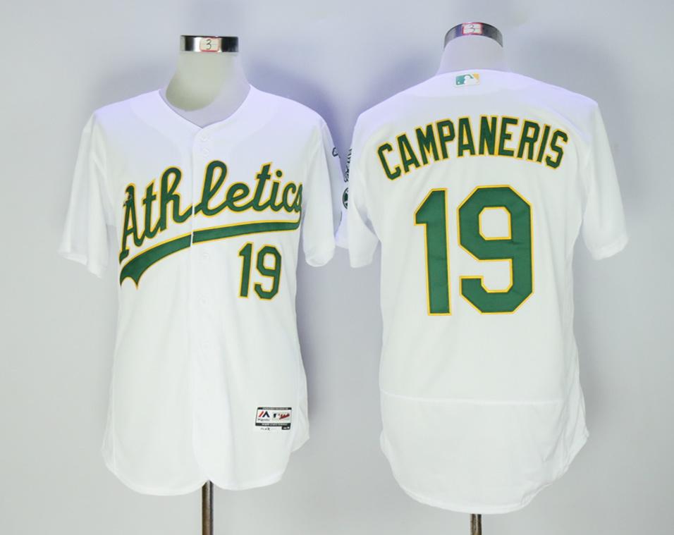 Athletics 19 Bert Campaneris White Flexbase Jersey