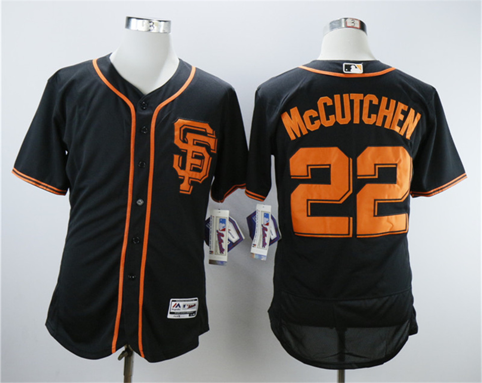 Giants 22 Andrew McCutchen Black Flexbase Jersey