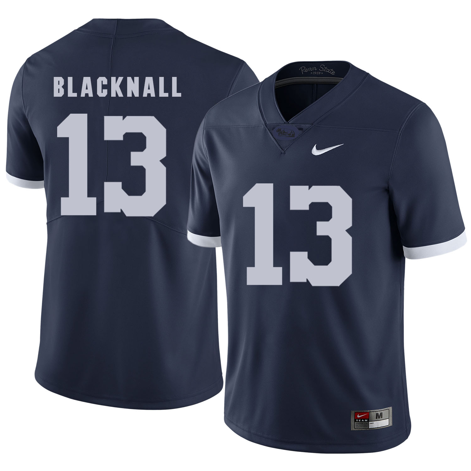 Penn State Nittany Lions 13 Saeed Blacknall Navy College Football Jersey