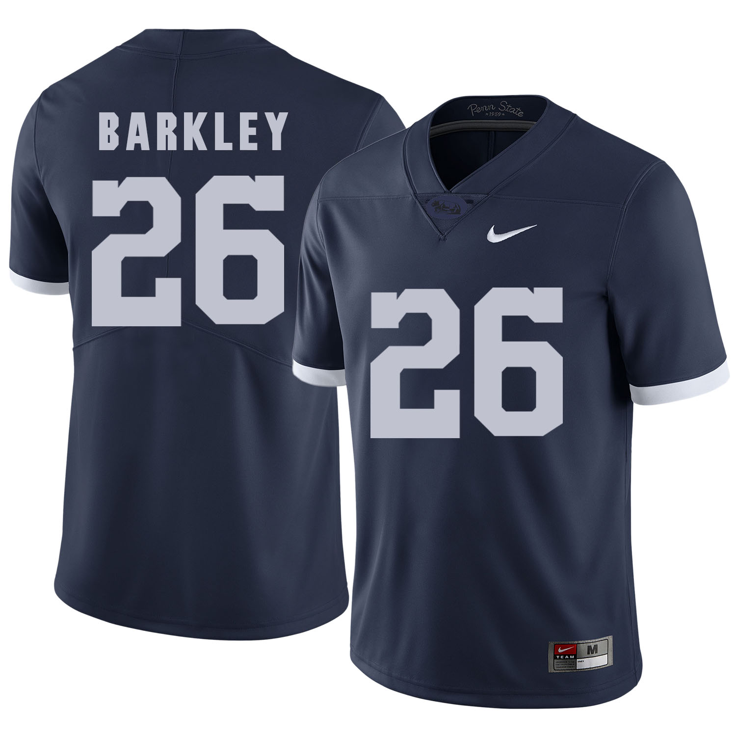 Penn State Nittany Lions 26 Saquon Barkley Navy College Football Jersey