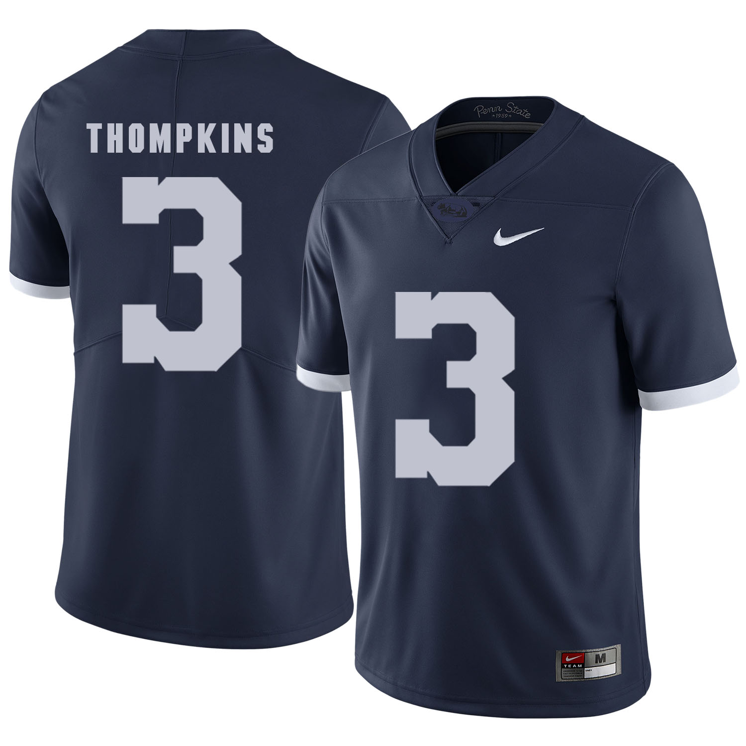 Penn State Nittany Lions 3 DeAndre Thompkins Navy College Football Jersey