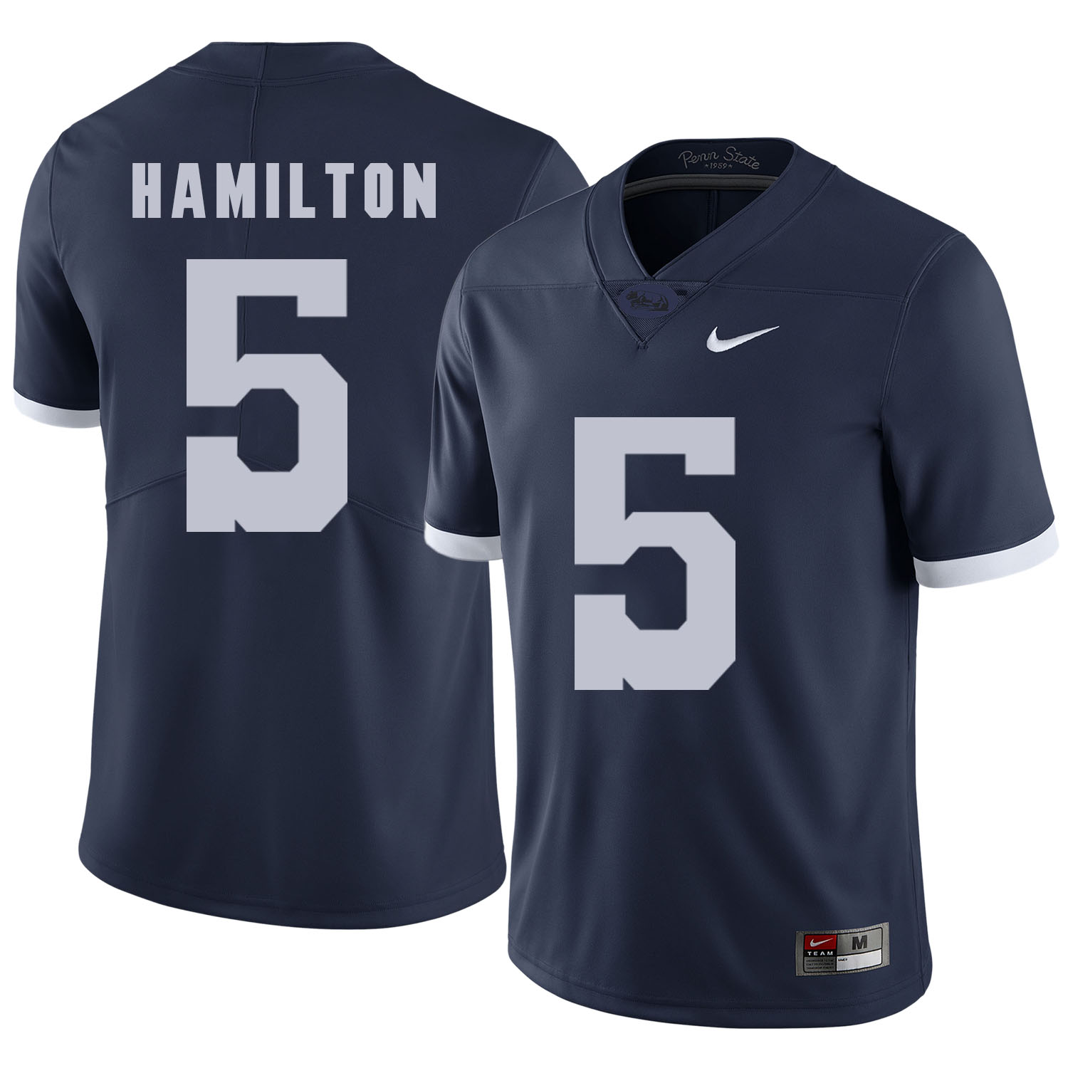 Penn State Nittany Lions 5 DaeSean Hamilton Navy College Football Jersey