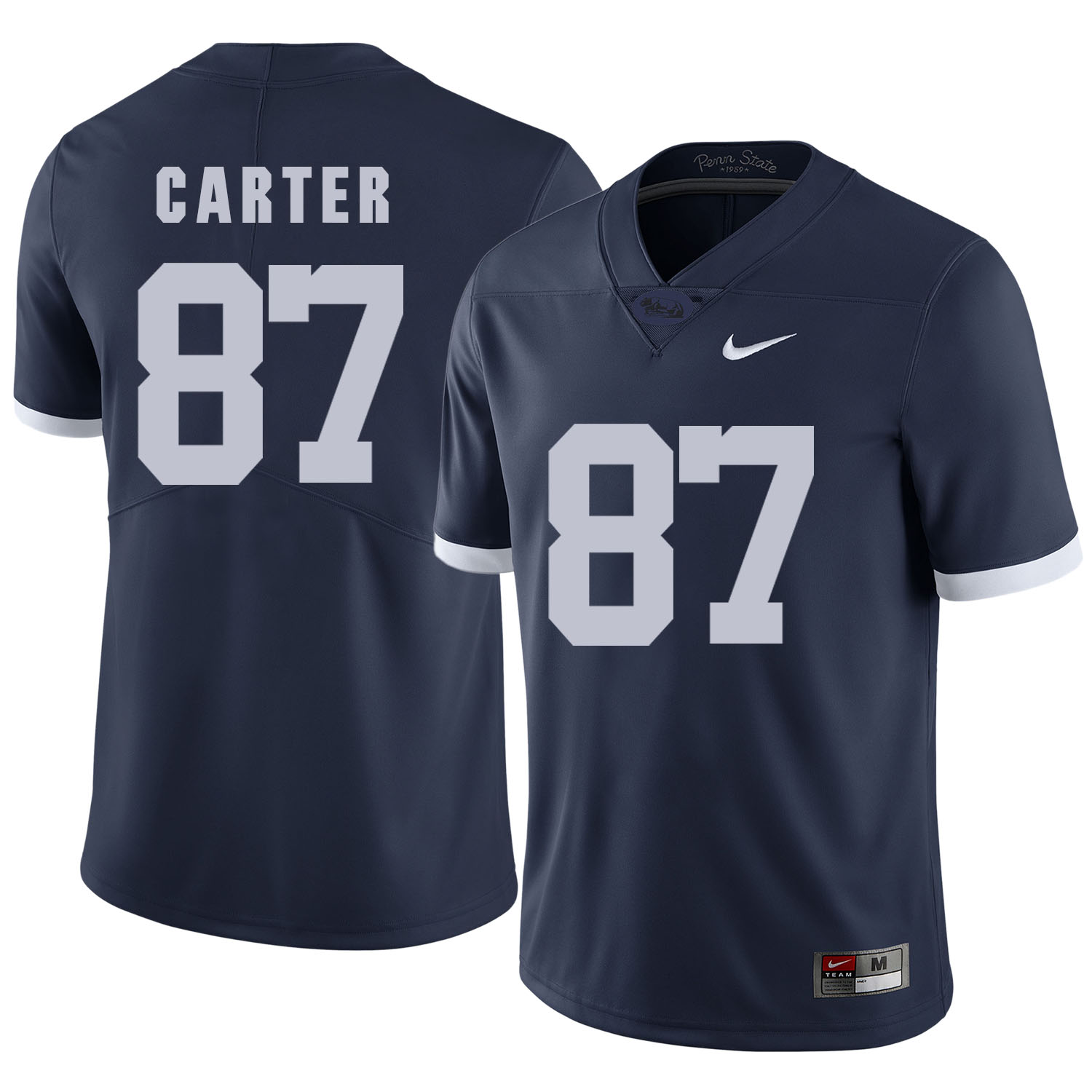 Penn State Nittany Lions 87 Kyle Carter Navy College Football Jersey
