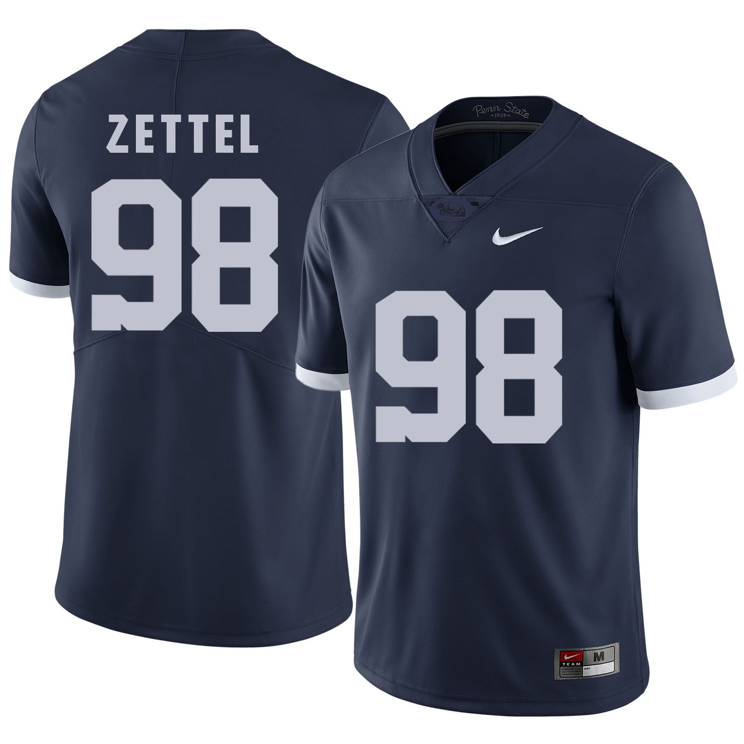 Penn State Nittany Lions 98 Anthony Zettel Navy College Football Jersey
