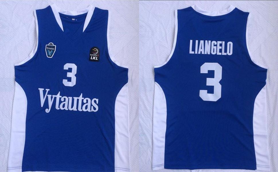 BC Prienai 3 Liangelo Ball Blue Basketball Jersey