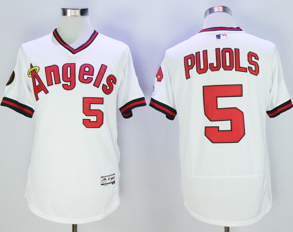 Angels Albert Pujols White Flexbase Jersey