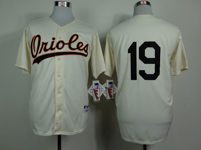 Orioles 19 Chris Davis Cream Throwback Jersey