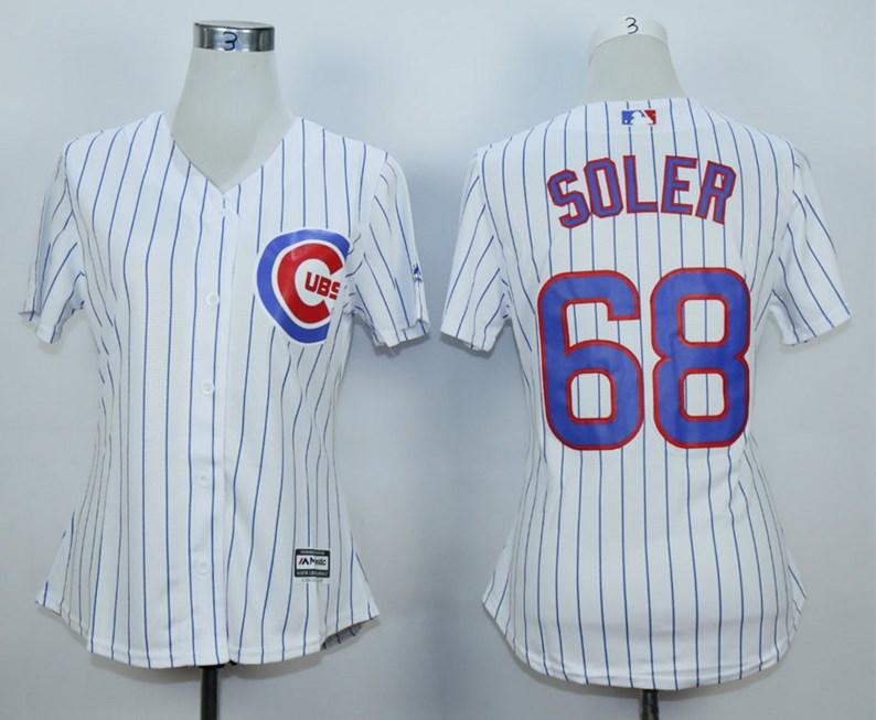 Cubs 68 Jorge Soler White Women Cool Base Jersey