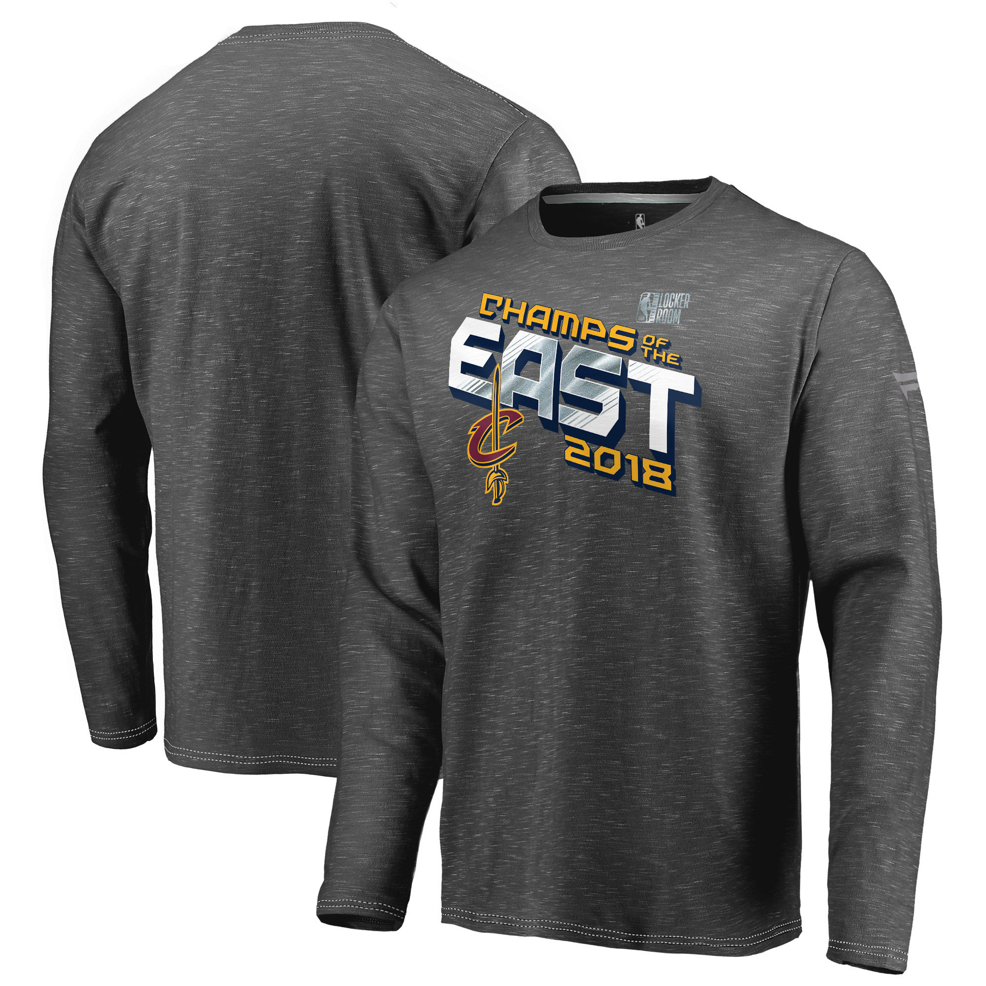 Cleveland Cavaliers Fanatics Branded 2018 Eastern Conference Champions Locker Room Long Sleeve T-Shirt Heather Charcoal