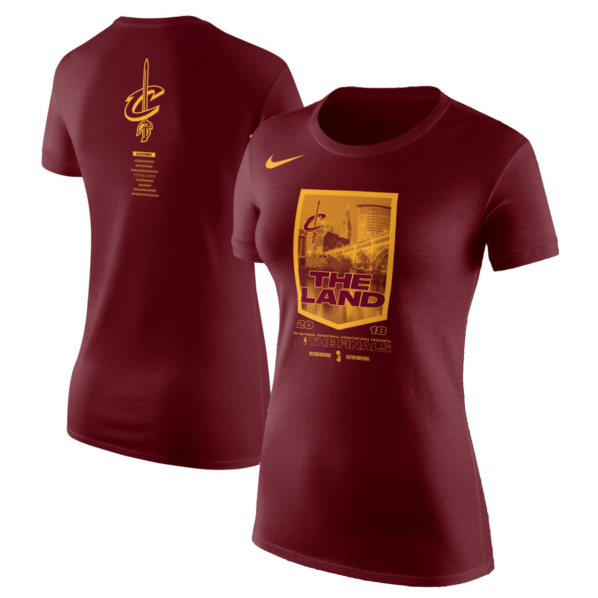 Cleveland Cavaliers Nike Women's 2018 NBA Finals Bound City DNA Cotton Performance T-Shirt Red