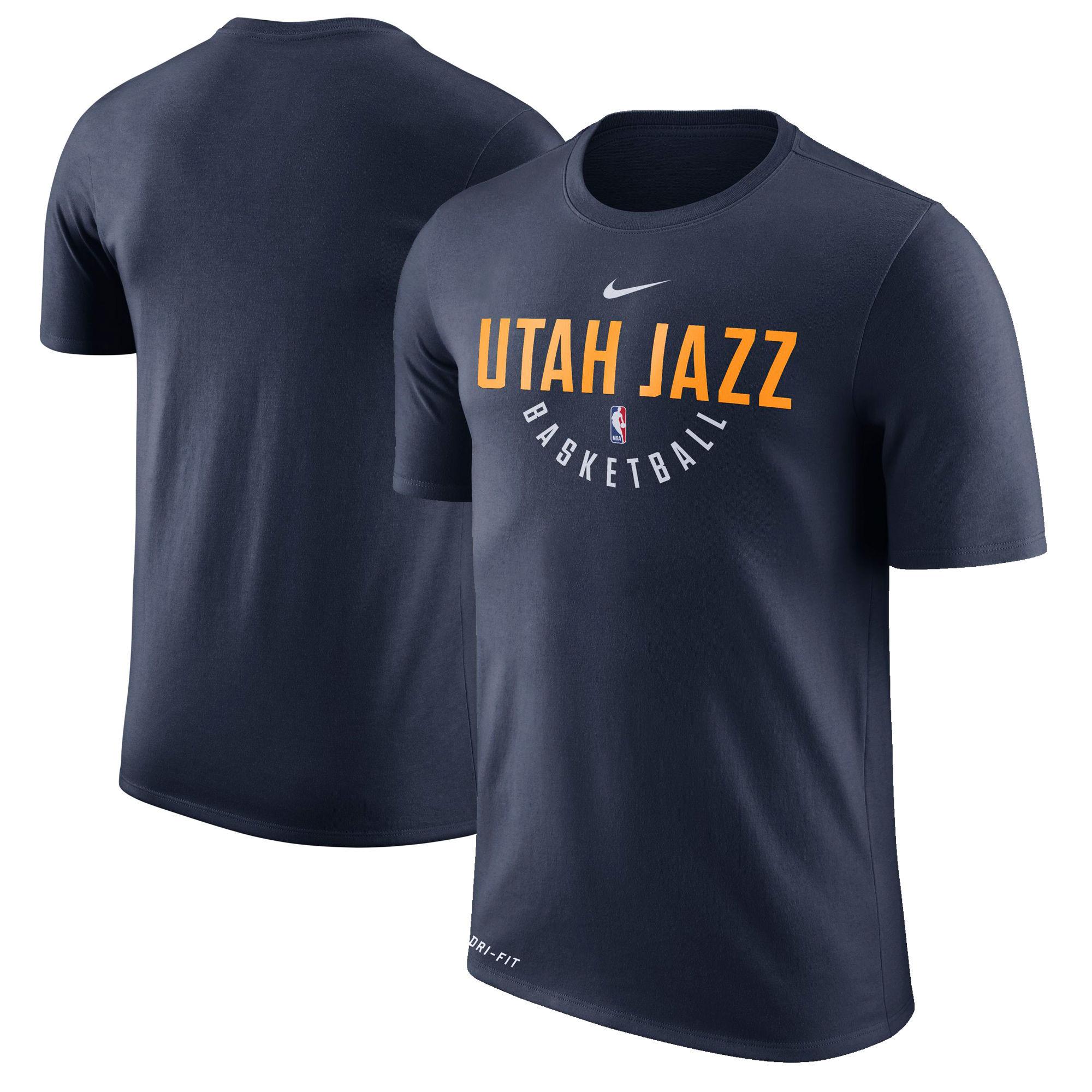 Utah Jazz Nike Practice Performance T-Shirt Navy