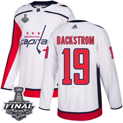 Capitals 19 Nicklas Backstrom White 2018 Stanley Cup Final Bound Adidas Jersey
