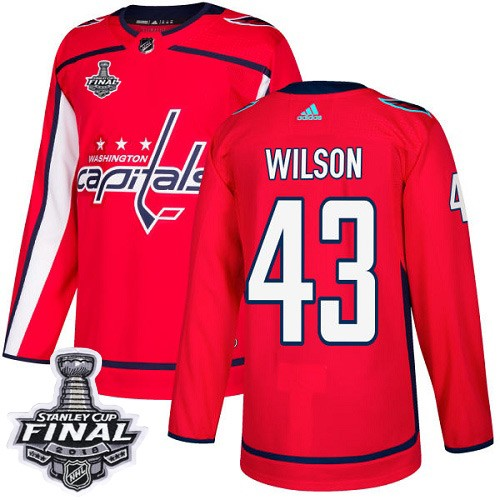 Capitals 43 Tom Wilson Red 2018 Stanley Cup Final Bound Adidas Jersey