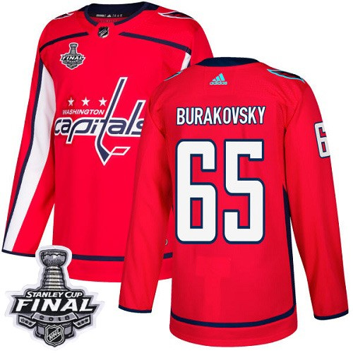 Capitals 65 Andre Burakovsky Red 2018 Stanley Cup Final Bound Adidas Jersey