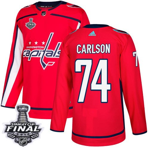 Capitals 74 John Carlson Red 2018 Stanley Cup Final Bound Adidas Jersey