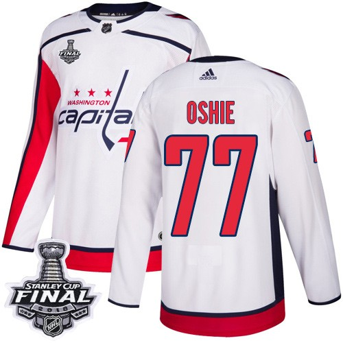Capitals 77 T.J. Oshie White 2018 Stanley Cup Final Bound Adidas Jersey