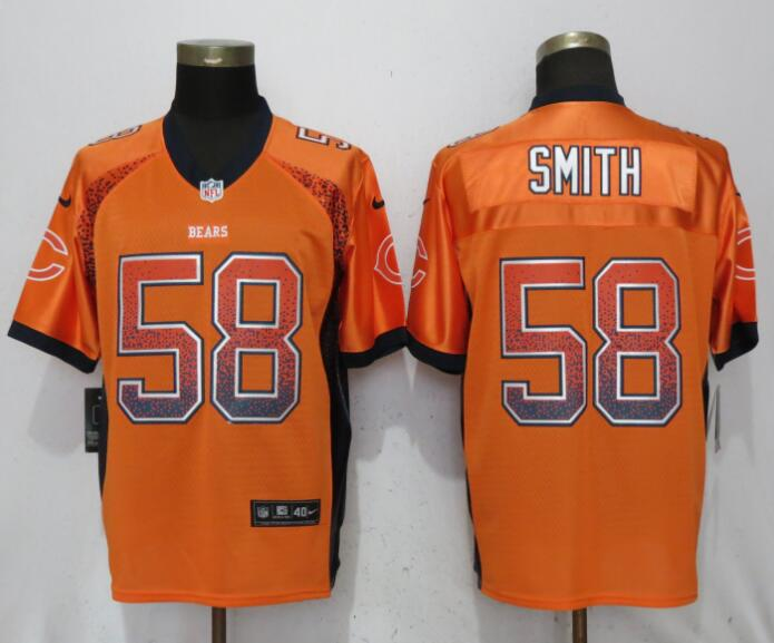 Nike Bears 58 Roquan Smith Orange Drift Fashion Elite Jersey
