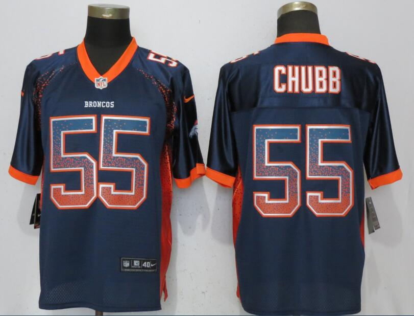 Nike Broncos 55 Bradley Chubb Navy Drift Fashion Elite Jersey