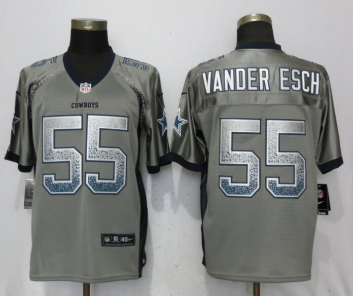 Nike Cowboys 55 Leighton Vander Esch Gray Drift Fashion Elite Jersey