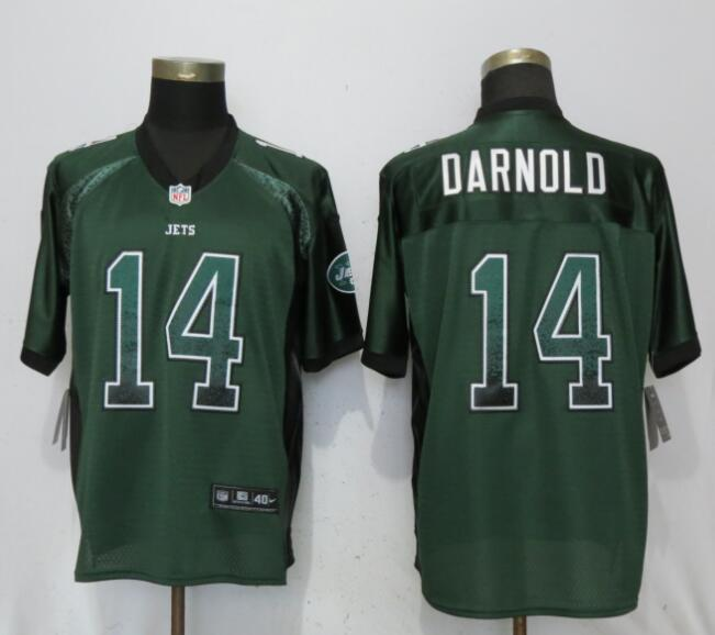 Nike Jets 14 Sam Darnold Green Drift Fashion Elite Jersey