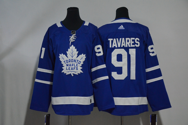 Maple Leafs 91 John Tavares Blue Youth Adidas Jersey