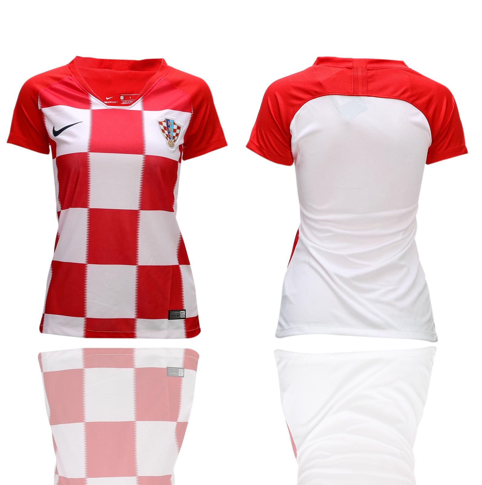 Croatia Home Women 2018 FIFA World Cup Soccer Jersey