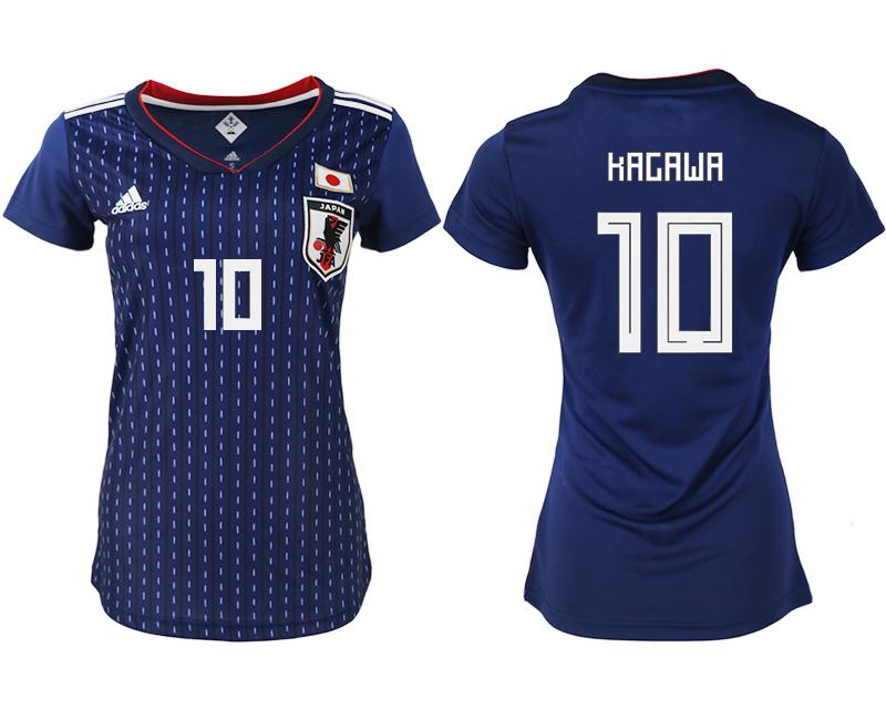 Japan 10 KAGAWA Home Women 2018 FIFA World Cup Soccer Jersey