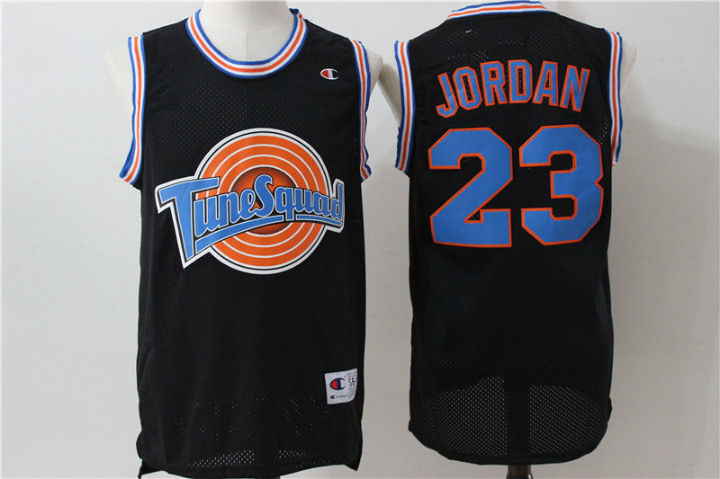 Tune Squad 23 Michael Jordan Black Stitched Movie Jersey