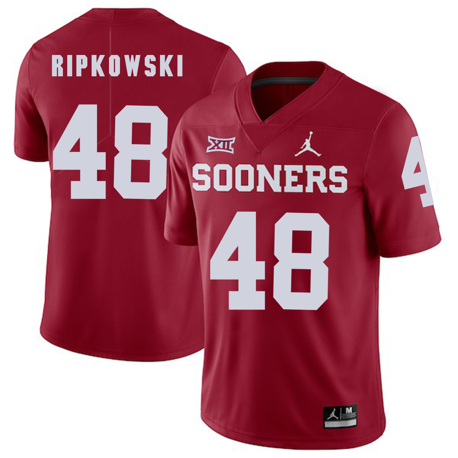 Oklahoma Sooners 48 Aaron Ripkowski Red College Football Jersey