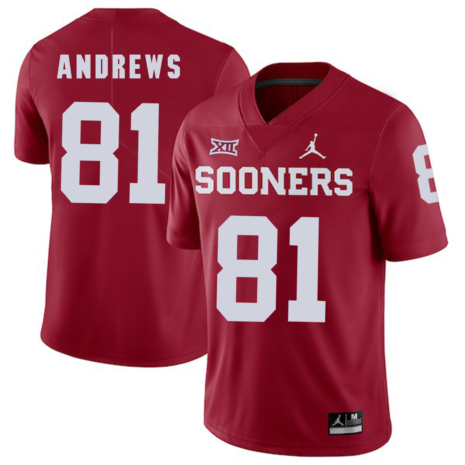 Oklahoma Sooners 81 Mark Andrews Red College Football Jersey