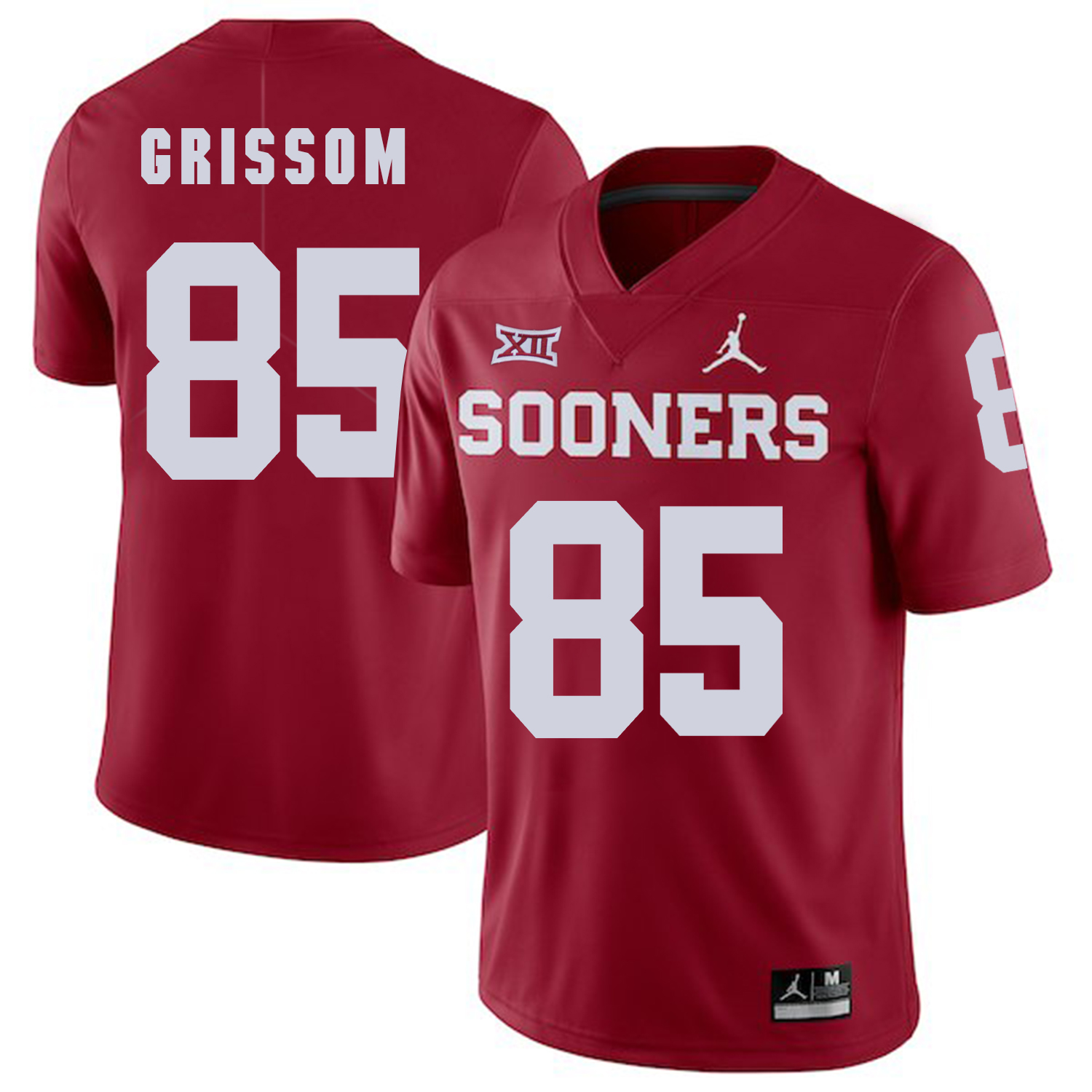 Oklahoma Sooners 85 Geneo Grissom Red College Football Jersey