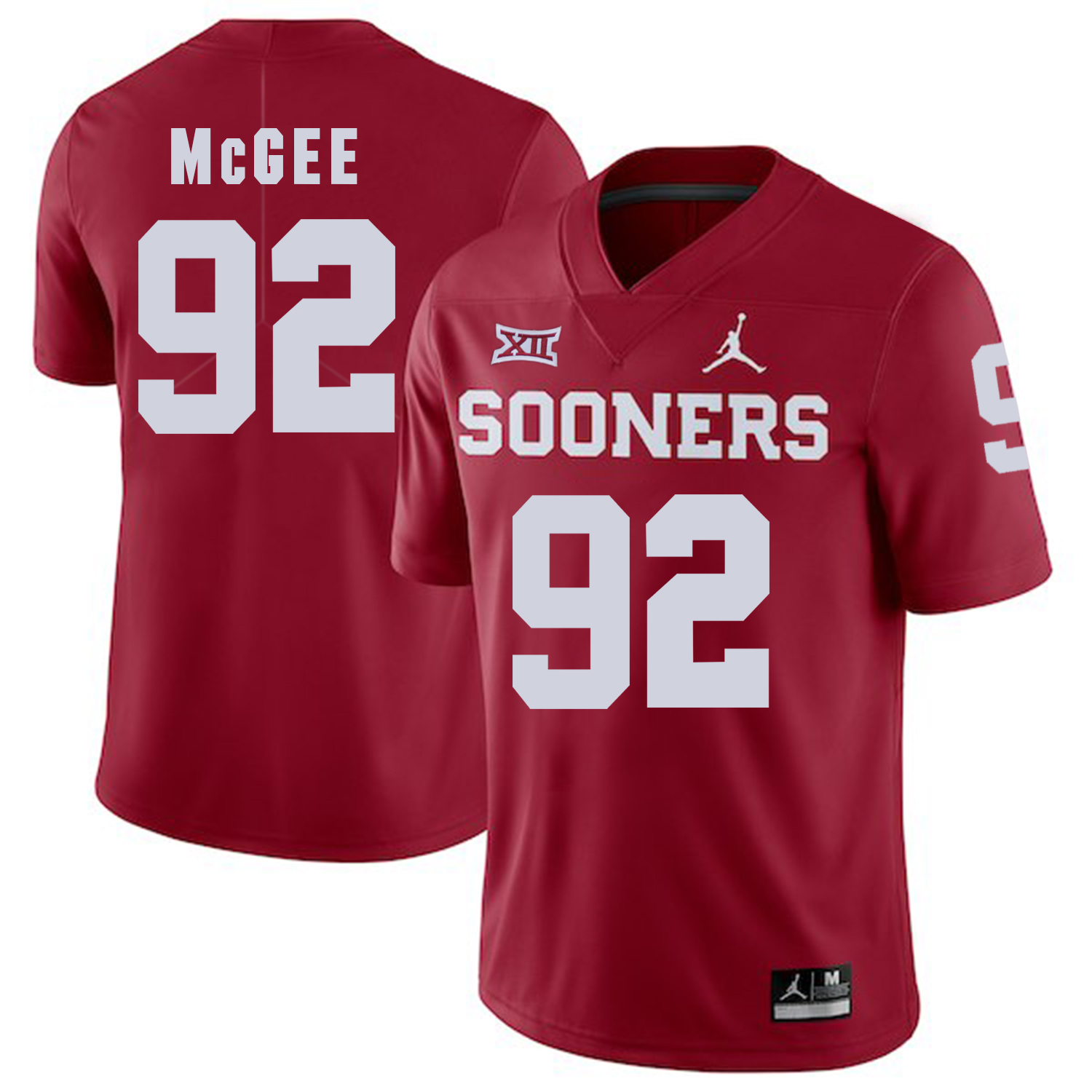 Oklahoma Sooners 92 Stacy McGee Red College Football Jersey