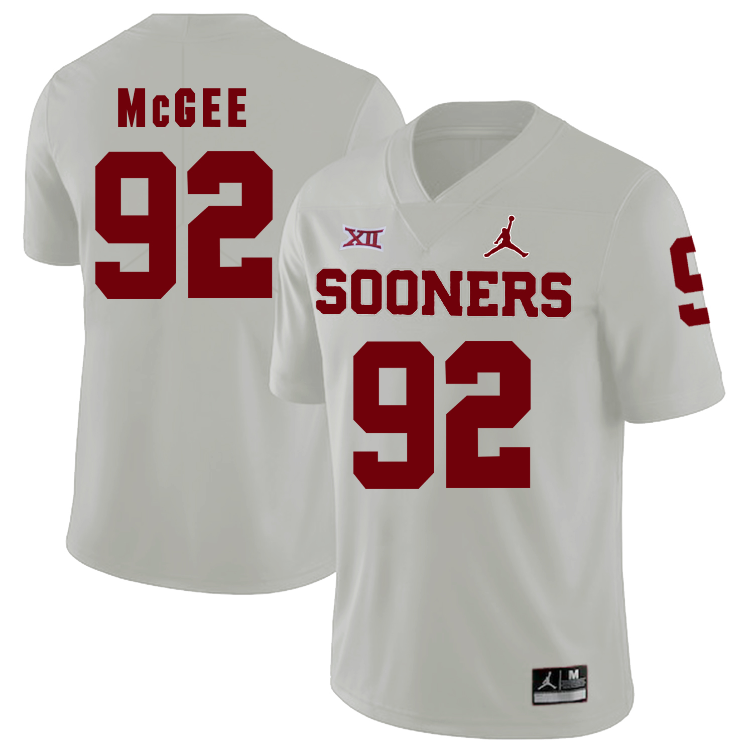 Oklahoma Sooners 92 Stacy McGee White College Football Jersey