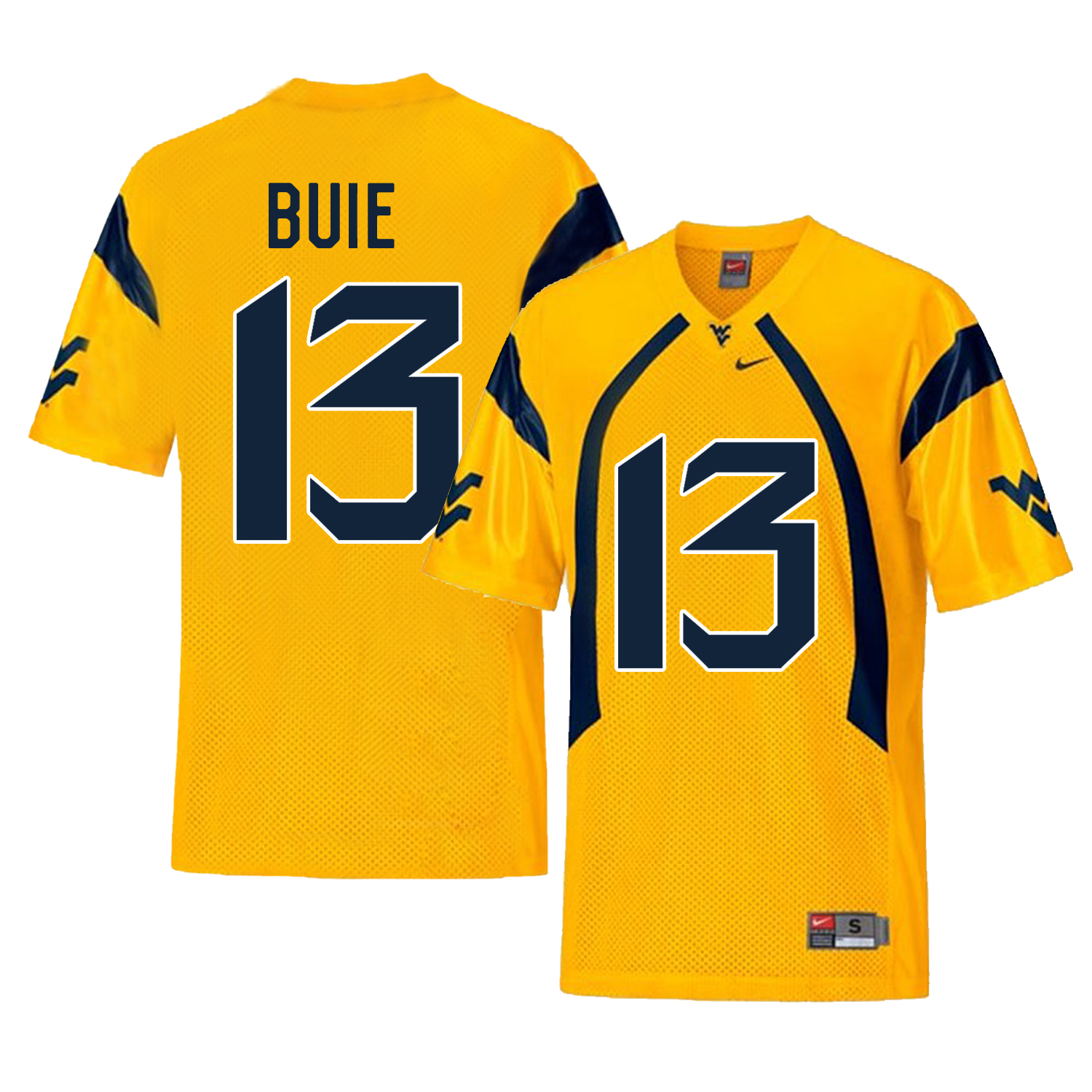 West Virginia Mountaineers 13 Andrew Buie Gold College Football Jersey