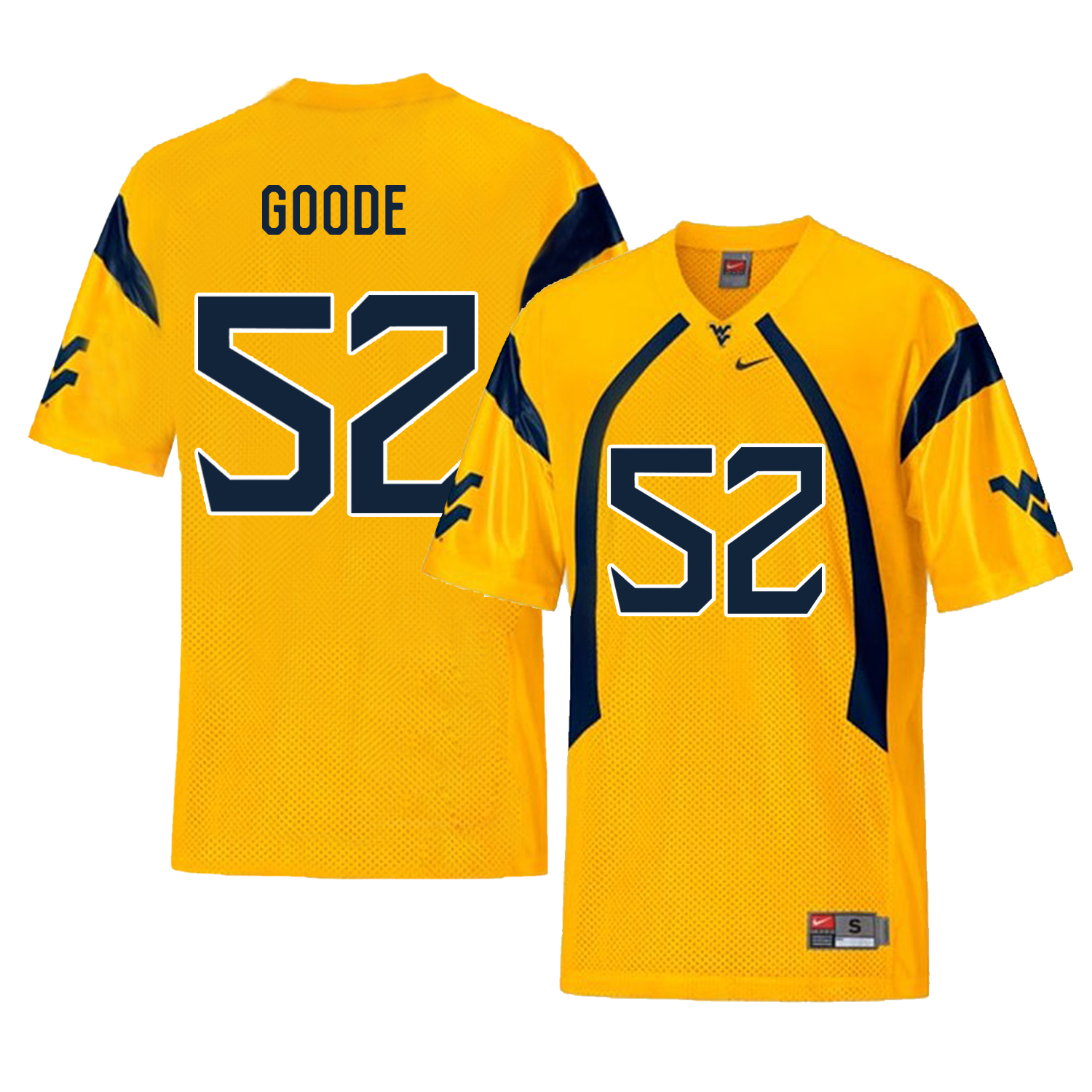 West Virginia Mountaineers 52 Najee Goode Gold College Football Jersey