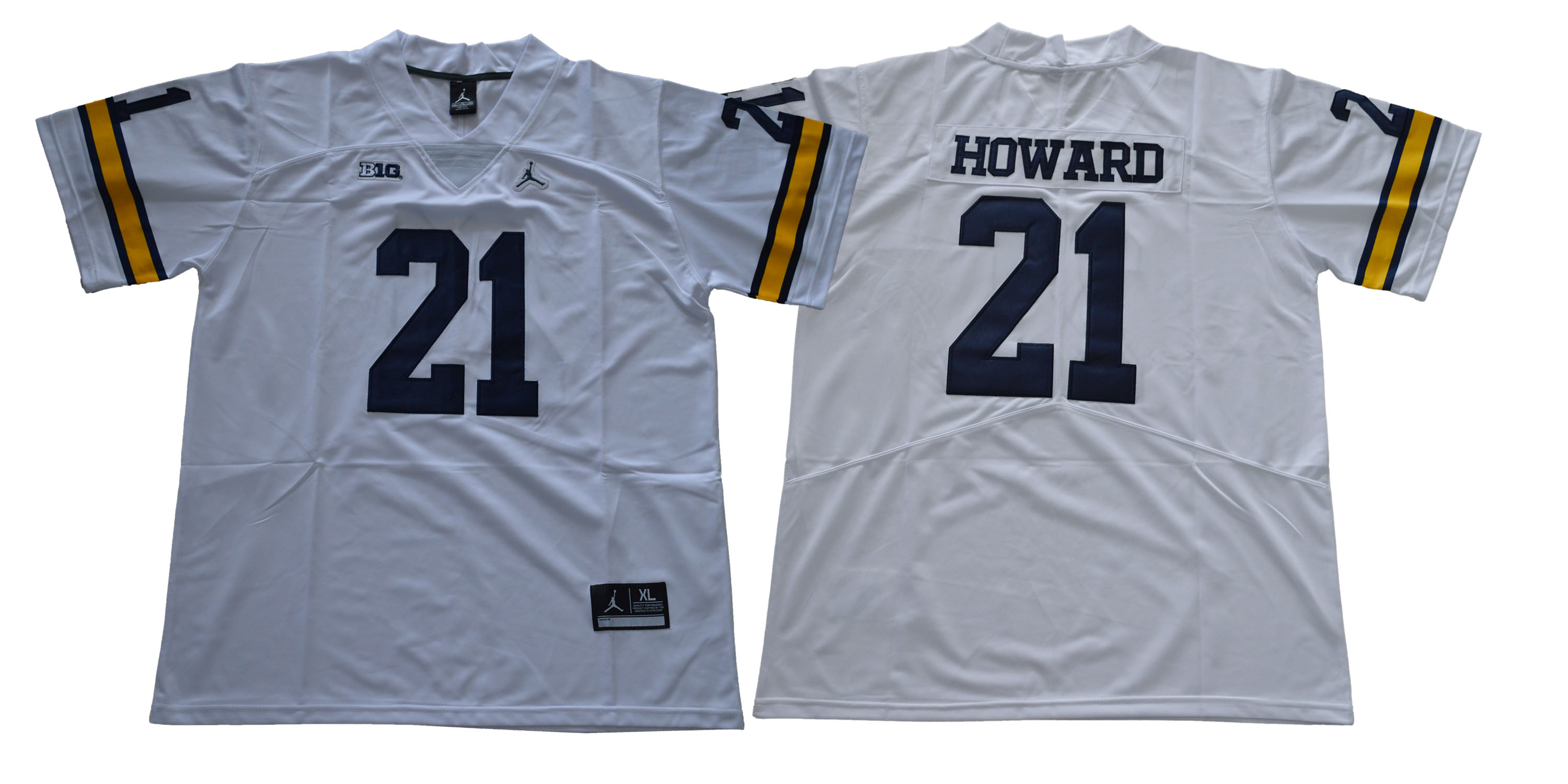 Michigan Wolverines 21 Desmond Howard White College Football Jersey