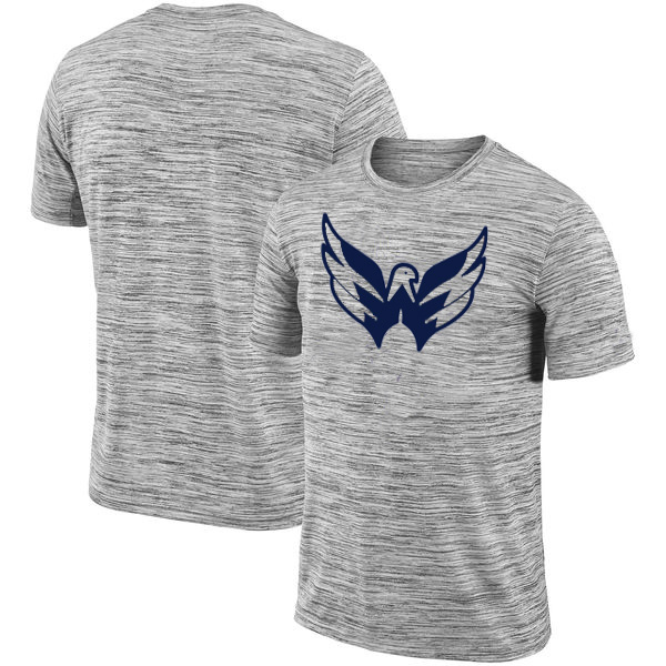 Washington Capitals 2018 Heathered Black Sideline Legend Velocity Travel Performance T-Shirt