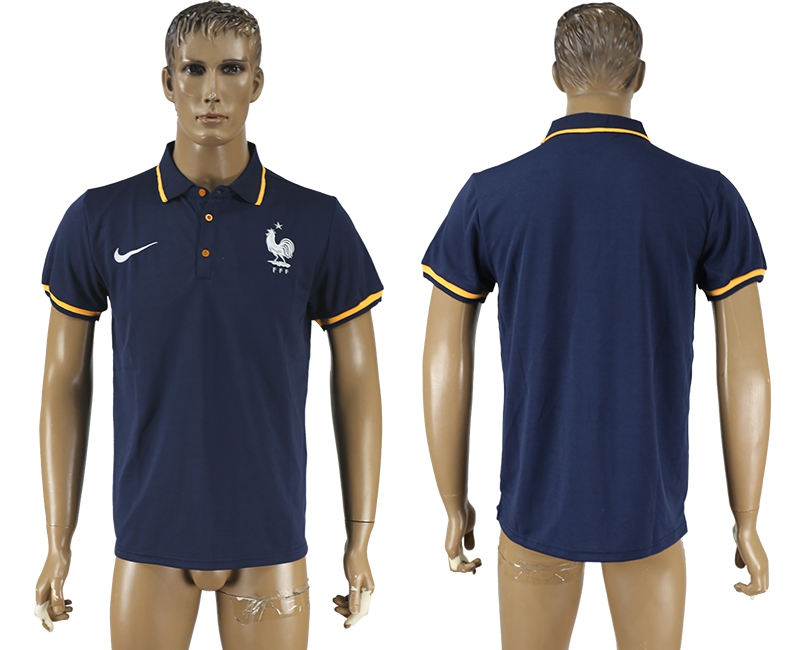 France Navy Soccer Polo Shirt