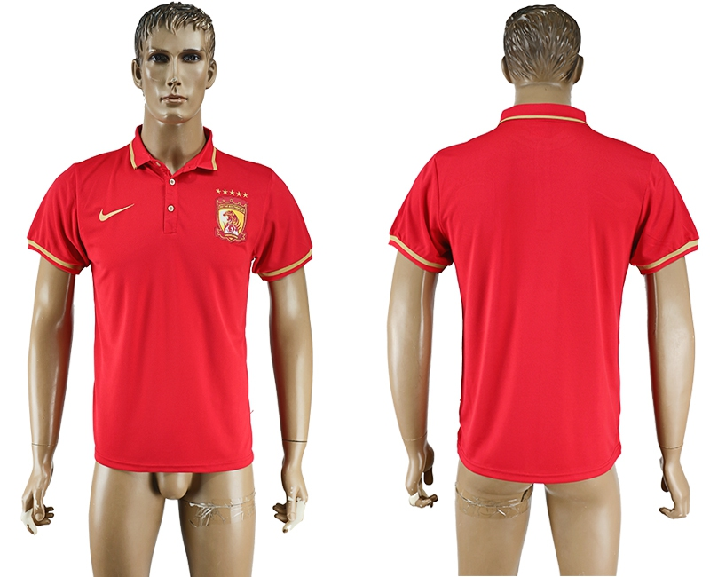 Guangdong Evergrande Red Soccer Polo Shirt