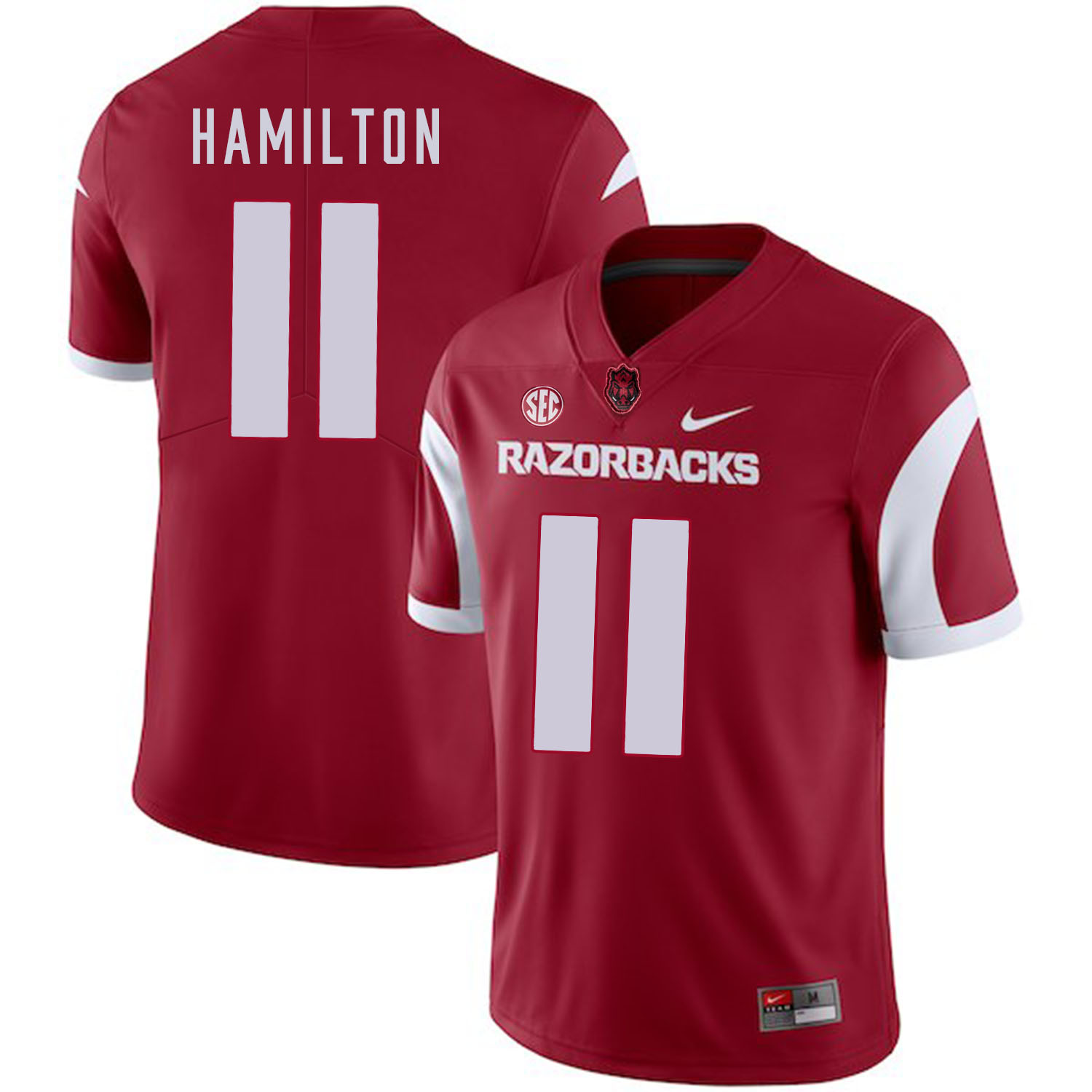 Arkansas Razorbacks 11 Cobi Hamilton Red College Football Jersey