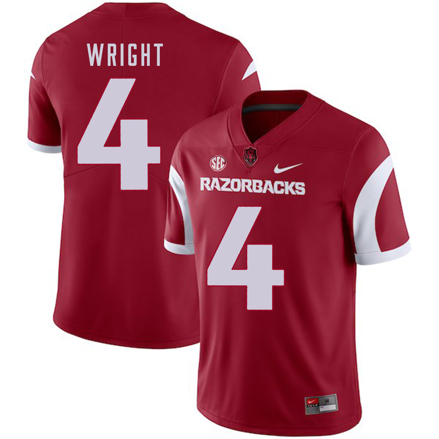 Arkansas Razorbacks 4 Jarius Wright Red College Football Jersey