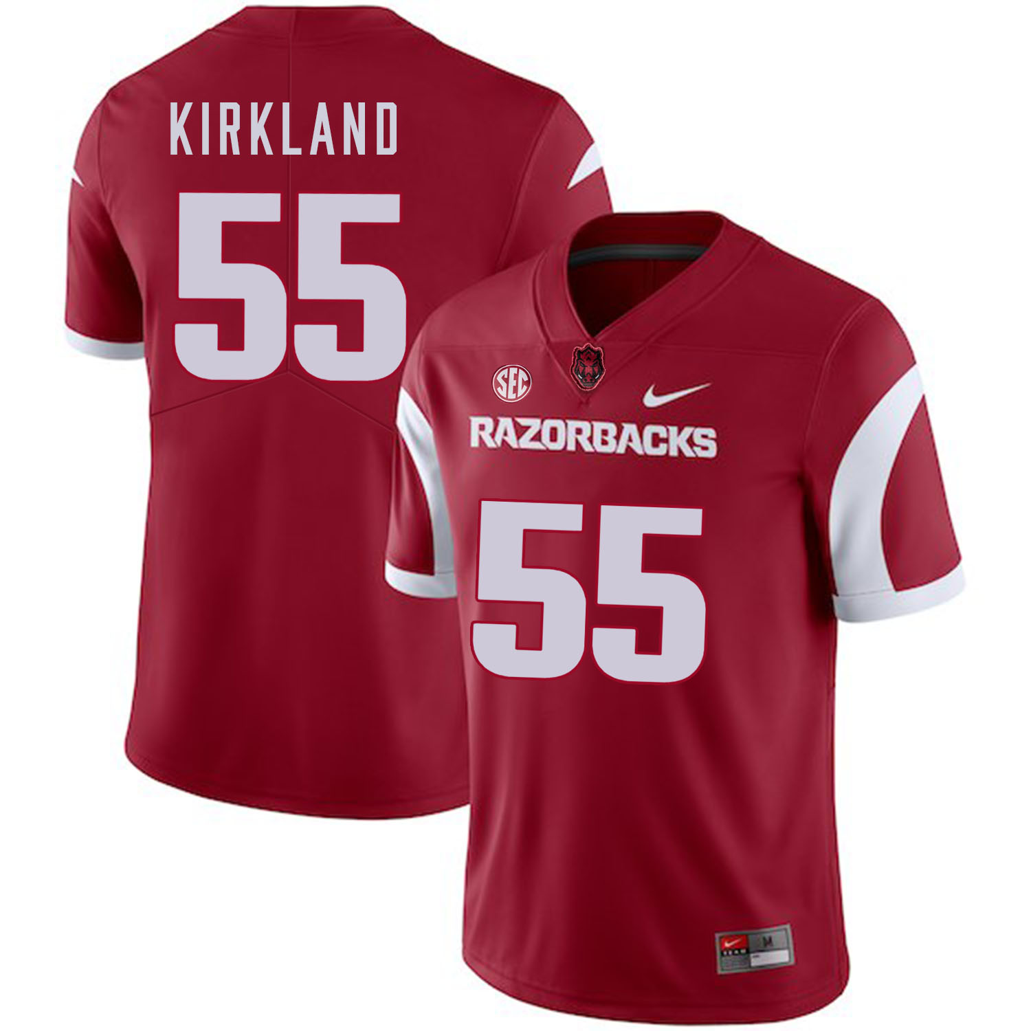 Arkansas Razorbacks 55 Denver Kirkland Red College Football Jersey